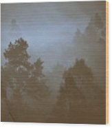 Pine Forest Wood Print