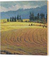 Pine Grove Wood Print