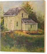 Pine Hill Barn Wood Print