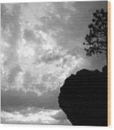 Pine Silhouette Wood Print