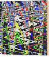 Pine Tree Abstract ,3448wt Wood Print