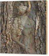 Pine Tree Nymph Wood Print
