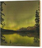 Pine Tree Silhouettes Wood Print