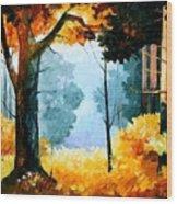 Pine Wood Wood Print