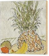 Pineapple And Banana Wood Print