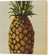 Pineapple Angel Wood Print by Shannon Grissom