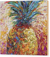 Pineapple Expression Wood Print