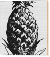 Pineapple Print Wood Print