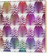 Pineapple Repeat Wood Print
