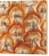 Pineapple Skin Texture Wood Print