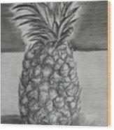 Pineapple Wood Print