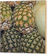 Pineapples And Melons Wood Print