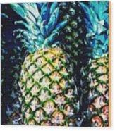 Pineapples Wood Print