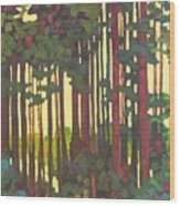 Pines Of Nisqually Wood Print