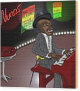 Pinetop Perkins Wood Print