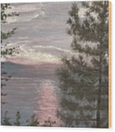 Piney Lake Wood Print