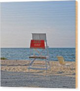 Piney Point Beach Wood Print