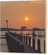 Piney Point Sunrise Wood Print