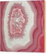 Pink Agate Wood Print