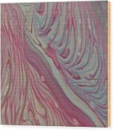 Pink And Blue Wood Print