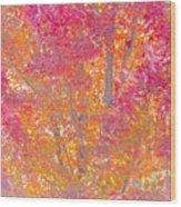 Pink And Orange Autumn 2 Wood Print
