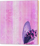 Pink And Purple Butterfly Companions 2 Wood Print