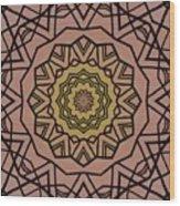 Pink And Yellow Kaleidoscope 1 Wood Print