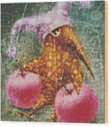 Pink  Apples Wood Print
