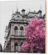 Pink Autumn Wood Print