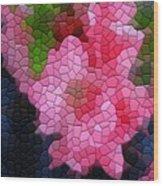 Pink Azaleas Wood Print