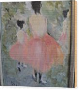 Pink Ballet Wood Print