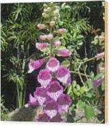 Pink Bell Flowers. Foxglove 03 Wood Print