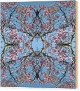 Pink Blossom Mandala Wood Print