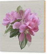 Pink Blossoms Wood Print