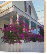 Pink Bougainvilleas Wood Print