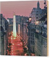 Pink Buenos Aires  Wood Print