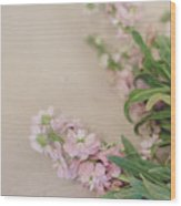 Pink Bunches Wood Print