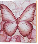 Pink Butterflies Wood Print by Christina Meeusen