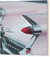 Pink Cadillac Eldorado Tail Fin Wood Print