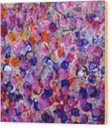 Pink California Splatter Map Wood Print