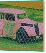 Pink Car Wood Print