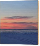 Pink Clouds Before Sunrise Two  Wood Print