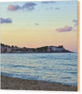 Pink Clouds Over Sicily Wood Print