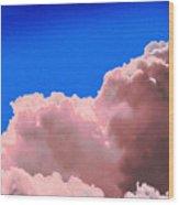 Pink Cluod Wood Print