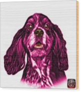 Pink Cocker Spaniel Pop Art - 8249 - Wb Wood Print