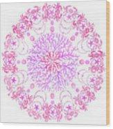 Pink Crab Mandala Wood Print