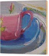 Pink Cup Wood Print