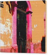 Pink Door 1 By Darian Day Wood Print