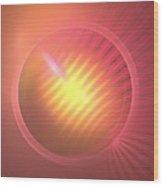 Pink Eclipse Wood Print