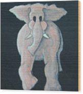 Pink Elephant 1 Wood Print
